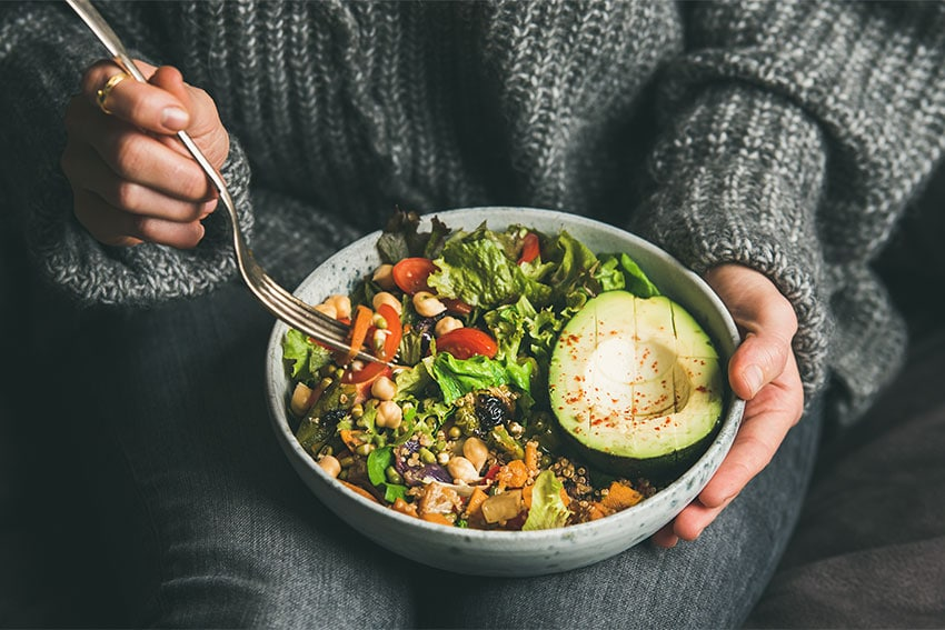 selection of healthy foods in a bowl